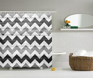 Image Is Loading Chevron Pattern On Wood Background Geometric Shower Curtain