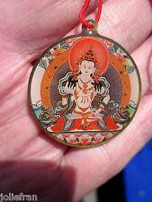 TIBETAN BUDDHIST VAJRASATTVA PENDANT NECKLACE WITH MANTRA FOR PURIFICATION