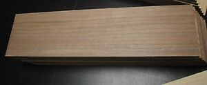 "12 WALNUT THIN BOARDS LUMBER WOOD CRAFTS SCROLL SAW 1-1/2""x 6""x 3/8"""