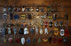 LARGE-SUPER-HERO-METAL-KEY-RING-KEY-CHAINS-MARVEL-DC-FILM-REPLICA