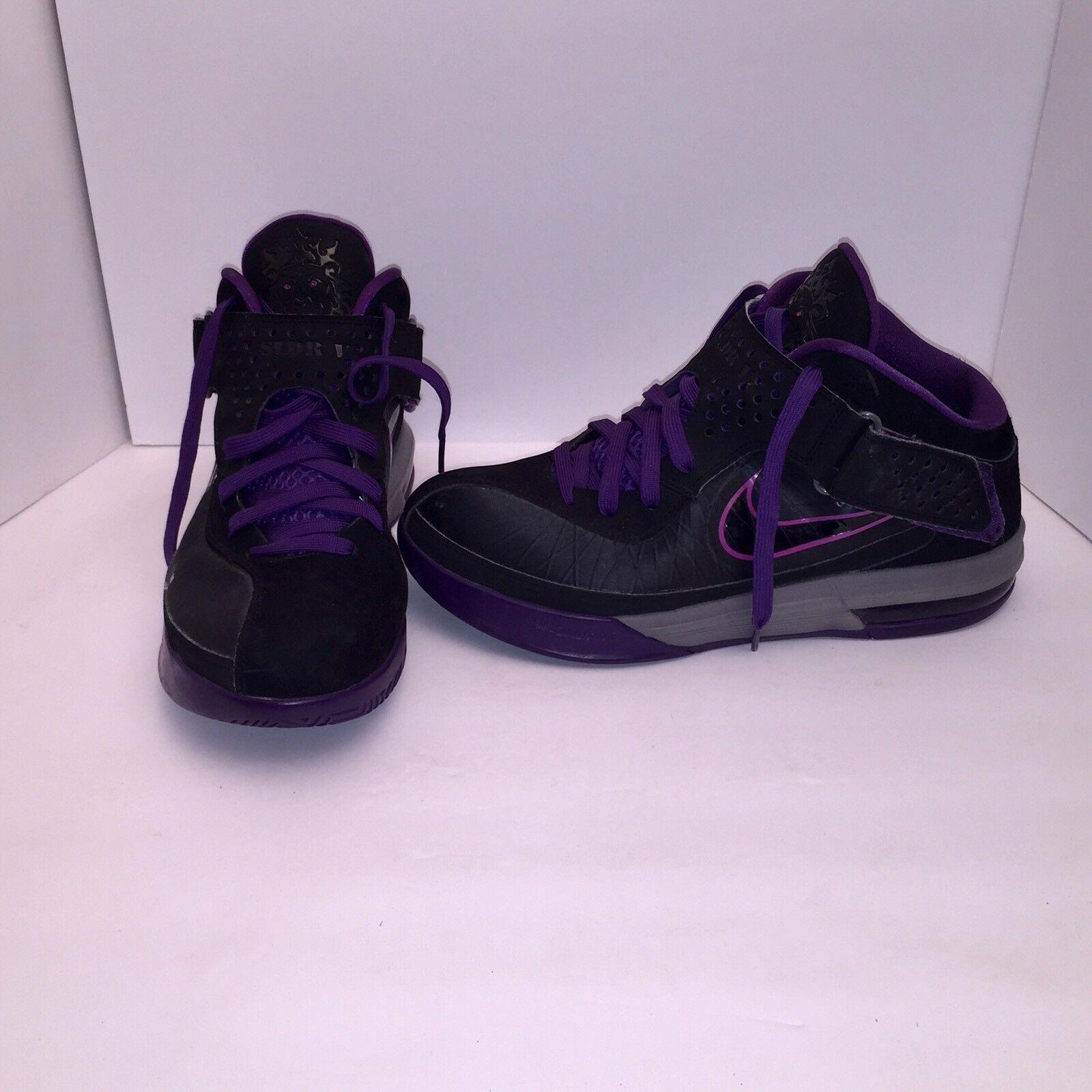 2018 Nike Lebron Air Max Soldier V 5 Black Purple Men's Sz 10.5