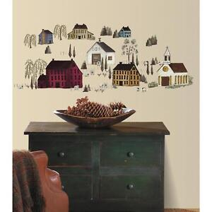 Image Is Loading 40 New Primitive Scenery Wall Decals Country Kitchen