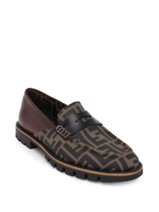 b84c8f07 Details about 100% AUTHENTIC NEW MEN FENDI FF PRINT SHOW ZUCCA  LOAFERS/DRIVERS UK 8.5/US 9.5