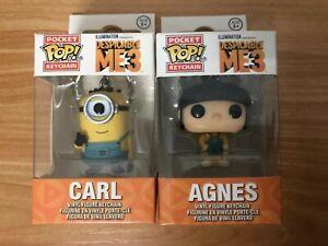 Despicable-Me3-PVC-Keyring-Agnes-Minions-Carl-Figure-Funko-POP-Pocket-Keychain