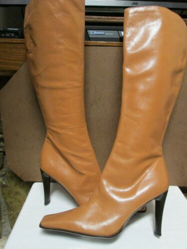 Knee Guess Boots Leather Size 8 High Tan 5 rxEEqnU