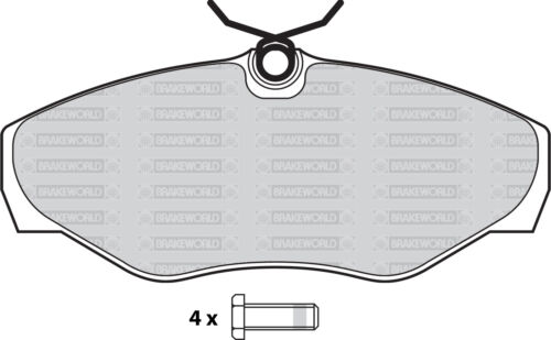 OEM SPEC FRONT AND REAR PADS FOR VAUXHALL VIVARO 2.0 TD 2006-14