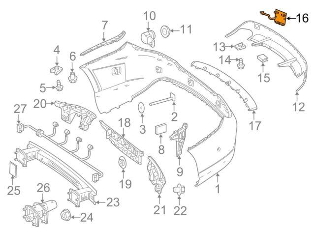 Mercedes MERCEDES-BENZ OEM CLA250 Rear Bumper-Tow Hook Eye Cap Cover 1178850522