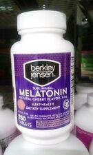 Berkley Jensen Sublingual Melatonin Natural Cherry Flavor 5mg Sleep Health 250 T