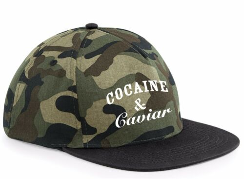 COCAINE AND caviar CAMO cap hat TUMBLR SWAG rapper HIPSTER  army hip tumblr