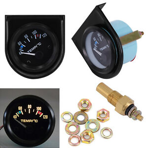 2-52mm-Car-Auto-Digital-LED-Water-Temp-Temperature-Gauge-Kit-40-120-DC-12V