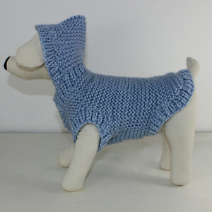 PRINTED-KNITTING-INSTRUCTIONS-DOG-CHUNKY-HOODIE-COAT-KNITTING-PATTERN