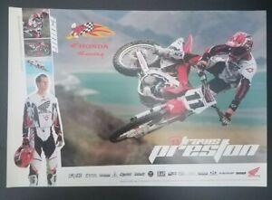 Vintage Motorcycle Poster Honda Racing 2006 Travis Preston Motocross Supercross