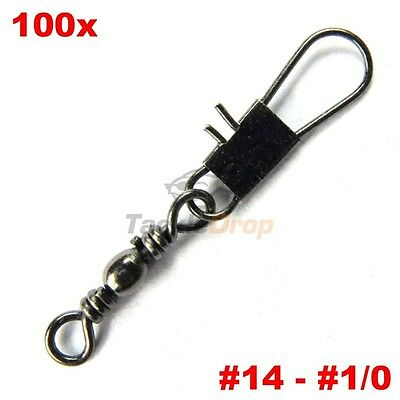 100x Swivel with side line clip fishing tackle fishhooks fishing connector  ha