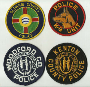 K-9-Oldham-Kenton-Woodford-KENTUCKY-Police-Patches-USED