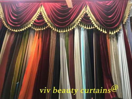 THEATER//STAGE Red Vintage Classic Velvet Curtain Drape 12ft H Sound Proof