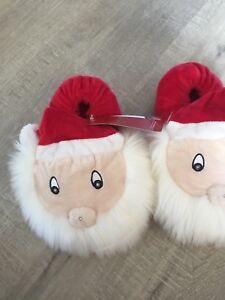 Babbo-Natale-Illuminare-Natale-Pantofole-Donna-Taglia-4-Ragazze-Natale-Novita-Eve-BOX-M-amp-S