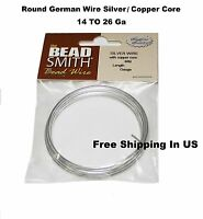 Bead Smith Non Tarnish German Silver Craft Wire (choose Size, Quantity)