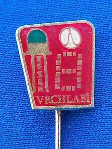 Tesla Vrchlabi LED Diode Czech Electronics Component Maker, vintage badge !