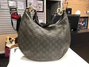 b15f2769ba01 Gucci GG Guccissima Twins Medium Hobo Olive Green Bag Purse 232962 ...