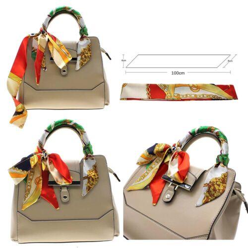 100cm Fashion Damen Handtasche Griff Seiden Tücher Muster Seidenband Dekoration
