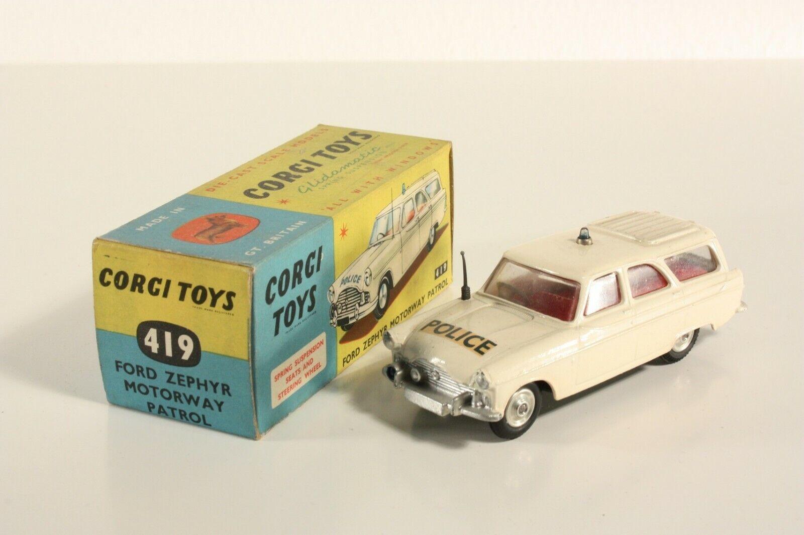 Corgi Toys 419, Ford Zephyr Motorway Patrol, Mint in Box  ab2182