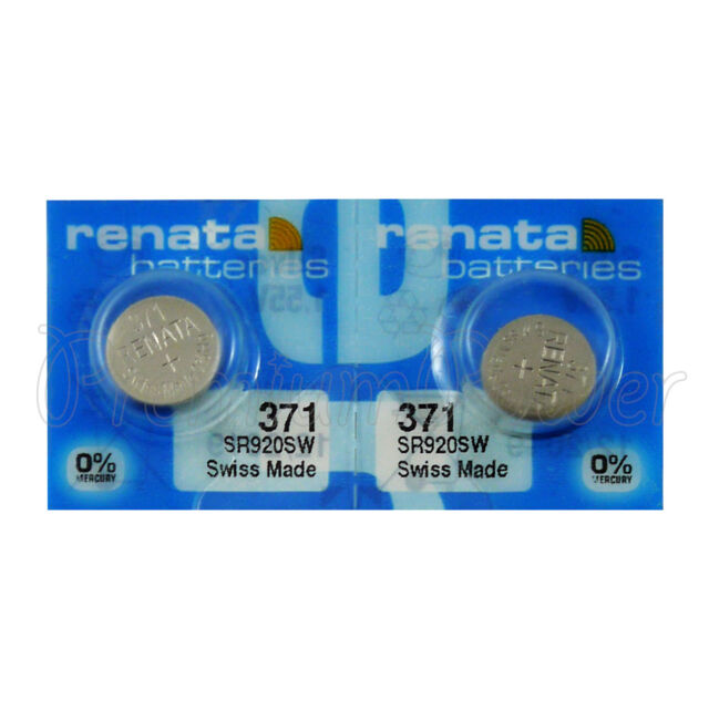 2 x Renata 371 Silver oxide batteries 1.55V SR920SW Watch SR69