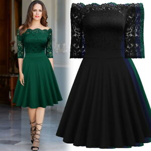 Women-039-s-Off-the-Shoulder-Scallop-Lace-Dress-Perfect-for-Any-Occasions