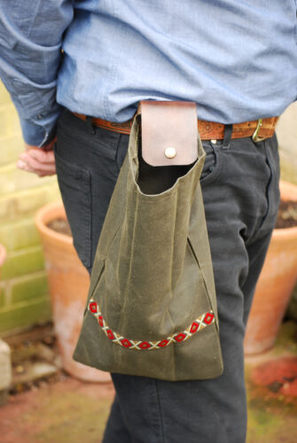 Bushcraft Foraging Belt Bag Handmade
