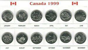 Canada-1999-Millennium-Designs-BU-UNC-Commemorative-12-Coin-Set