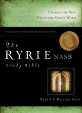 Ryrie Study Bibles 2012: The Ryrie NAS Study Bible Genuine Leather Black Red Letter by Charles C. Ryrie and A. Moody (2012, Leather, New Edition)