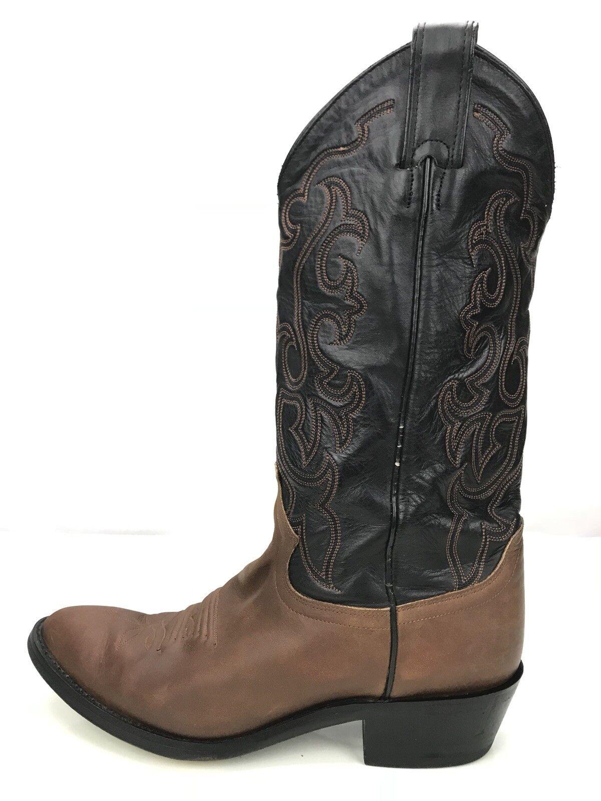 Justin Stivali Brown Coffee Pelle Cowboy Western Stivali 2428 Uomo Size 8.5D