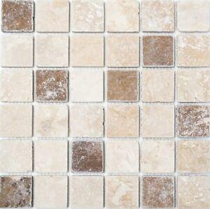 Piastrella-mosaico-CHIARO-NOCE-TRAVERTINE-Muro-Pavimento-bagno-e-WC-TIPO-43-1216-b-1-Tappetino