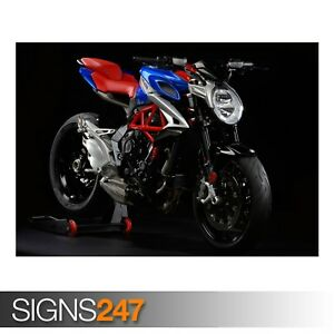 MV-AGUSTA-BRUTALE-800-AMERICA-AE180-Photo-Picture-Poster-Print-Art-A0-to-A4