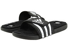 04cd840d66 Adidas Adissage Black Slides Shower Athletic Swim Sandal 087609 Womens Size  5-10