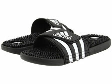 a1de144785aa Adidas Adissage Black Slides Shower Athletic Swim Sandal 087609 Womens Size  5-10