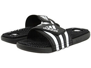 competitive price bb289 911d1 Image is loading Adidas-Adissage-Black-Slides-Shower-Athletic-Swim-Sandal-