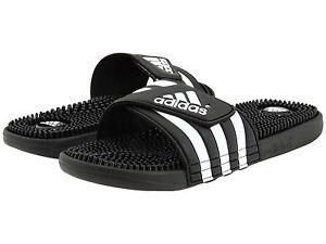 755399623c06a2 Image is loading Adidas-Adissage-Black-Slides-Shower-Athletic-Swim-Sandal-