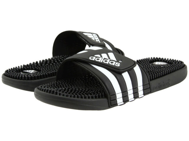 e24bcd8da20 Adidas Adissage Black Slides Shower Athletic Swim Sandal 087609 Womens Size  5-11