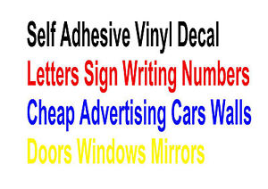 Self adhesive vinyl decal letters sign writing numbers for Self adhesive letters for walls