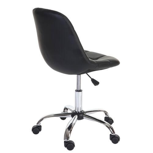 Drehstuhl Arbeitshocker Bürostuhl Kunstleder schwarz Stuhl HWC-A86