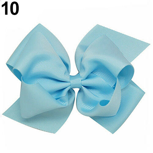 EE/_ Girl/'s Large Double Layers Hairbow Hair Bow Grosgrain Ribbon Clip Hairpin Pr