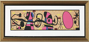 """Fine Joan Miro Signed & Not-Numbered """"Moon and Sun """" Lithograph Print (unframed)"""