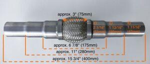 2 cascabeles Para audi flexrohr flexstück pantalones tubo tubo de escape 45x200//310mm