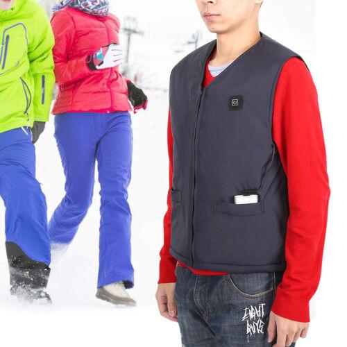Electric USB Heated Warm Vest Women Men Heating Coat Jacket Clothing Winter