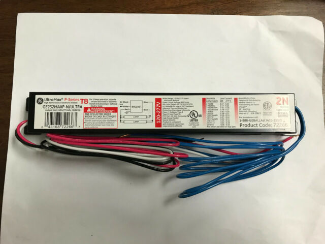 NEW Case of 10 GE GE232MAX-N//ULTRA 4x4x8 electronic ballast