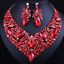 Fashion-Bib-Choker-Crystal-Pendant-Statement-Necklace-Earrings-Party-Jewelry-Set thumbnail 19