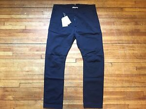 dc48cd2a26e4 PIERRE BALMAIN NAVY BLUE ZIPPER PLEAT CHINOS PANTS S 34 48 MADE IN ...