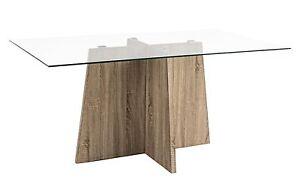 Tavoli In Legno E Vetro : Desing tavolo in legno e vetro cm h ebay