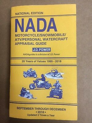 Nada Atv Values >> 1999 2018 Motorcycle Snowmobile Atv Personal Watercraft Nada Appraisal Guide Ebay