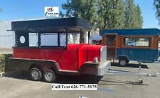 New Electric Mobile Food Trailer Enclosed Concession Stand Car Design 4 Hitch